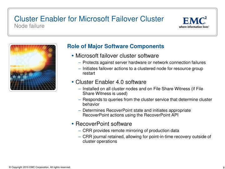 Cluster Enabler for Microsoft Failover Cluster