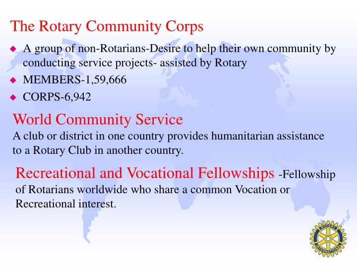 The Rotary Community Corps