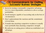 10 commandments for crafting successful business strategies1