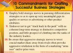 10 commandments for crafting successful business strategies2