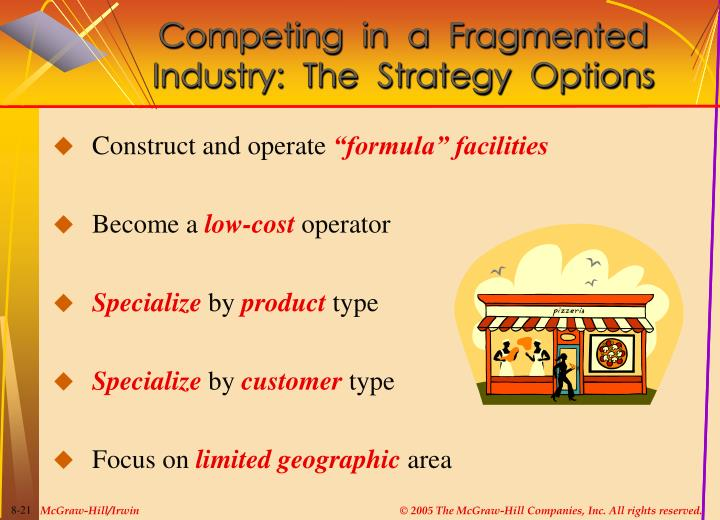 Competing  in  a  Fragmented  Industry:  The  Strategy  Options