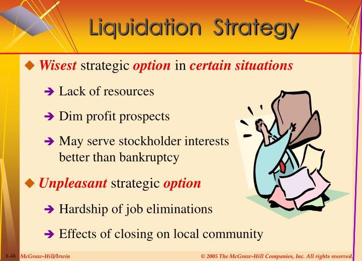 Liquidation  Strategy