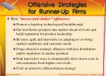 offensive strategies for runner up firms