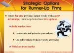 strategic options for runner up firms