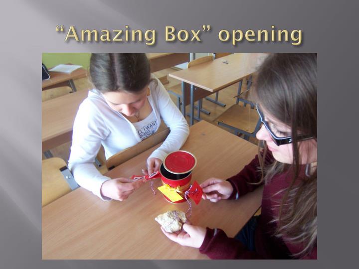 """""""Amazing Box"""" opening"""
