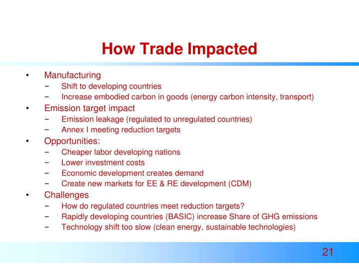 How Trade Impacted