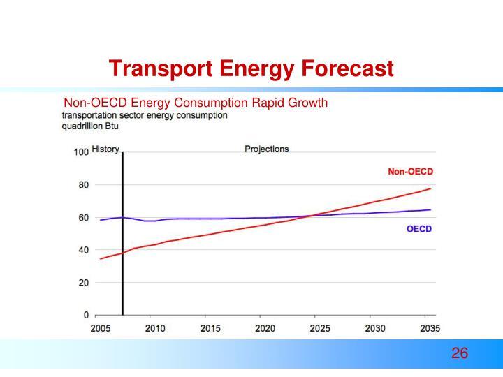 Transport Energy Forecast