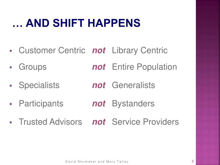… and Shift Happens