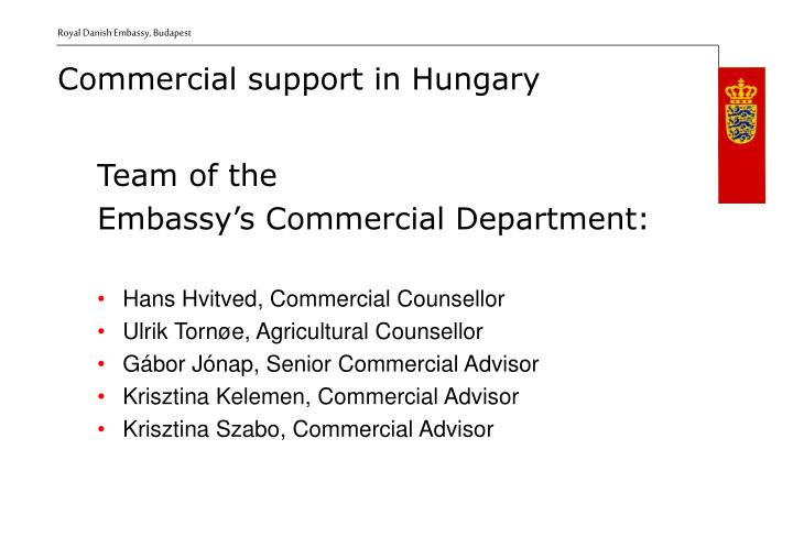 Commercial support i n hungary1