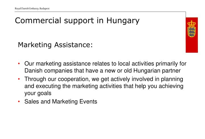 Marketing Assistance:
