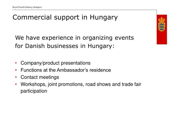 We have experience in organizing events