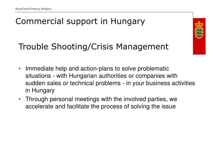 Trouble Shooting/Crisis Management