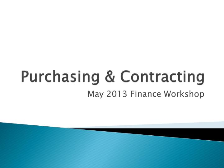 Purchasing contracting