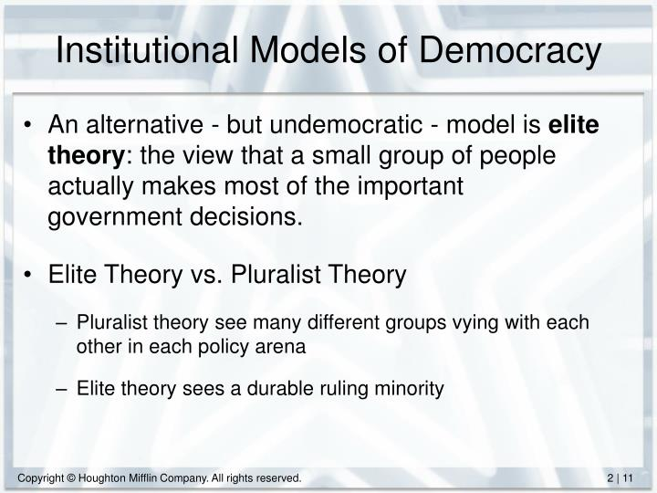 Institutional Models of Democracy