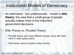 institutional models of democracy1