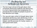 the meaning and symbolism of democracy