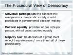 the procedural view of democracy1