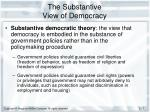 the substantive view of democracy