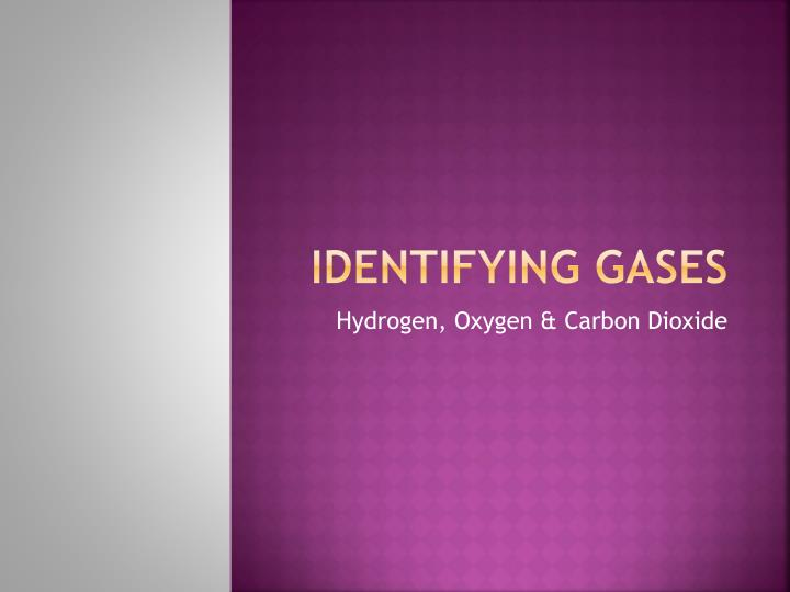 Identifying gases