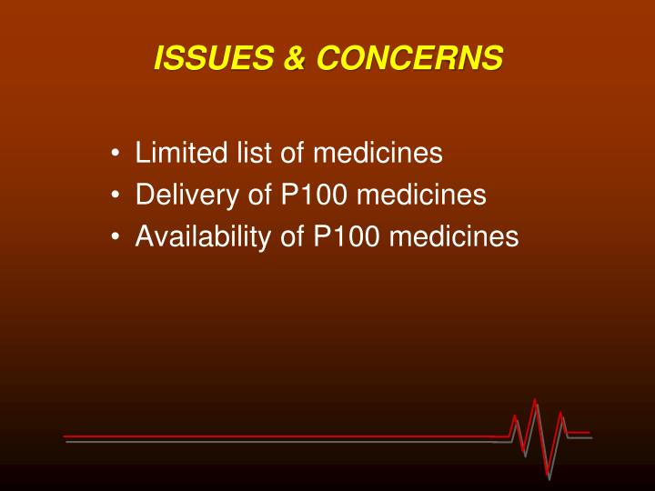 ISSUES & CONCERNS