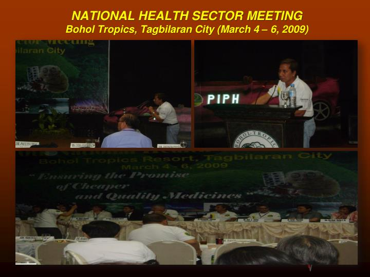 NATIONAL HEALTH SECTOR MEETING
