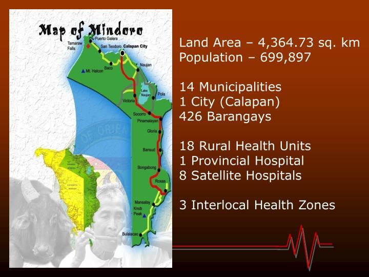 Land Area – 4,364.73 sq. km