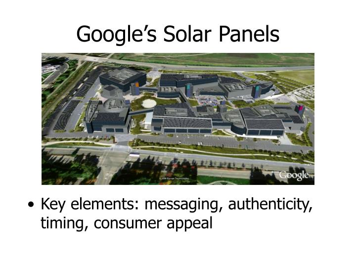 Google's Solar Panels