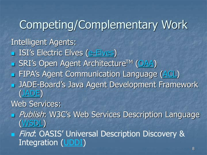 Competing/Complementary Work
