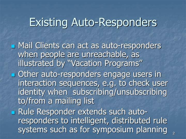 Existing Auto-Responders