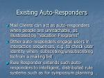 existing auto responders