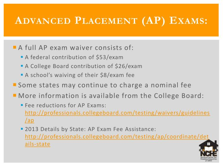 Advanced Placement (AP) Exams: