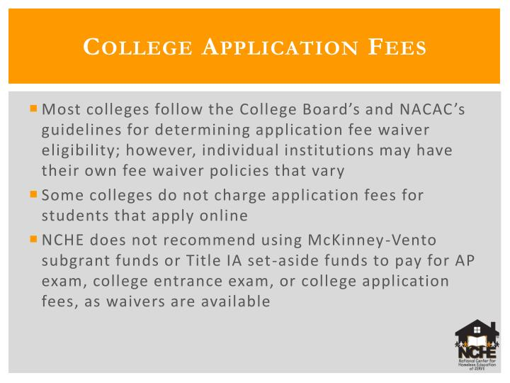 College Application Fees