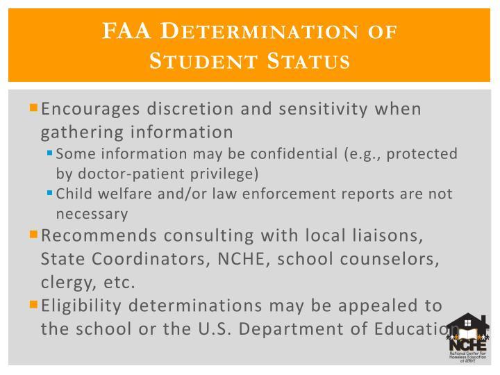 FAA Determination of
