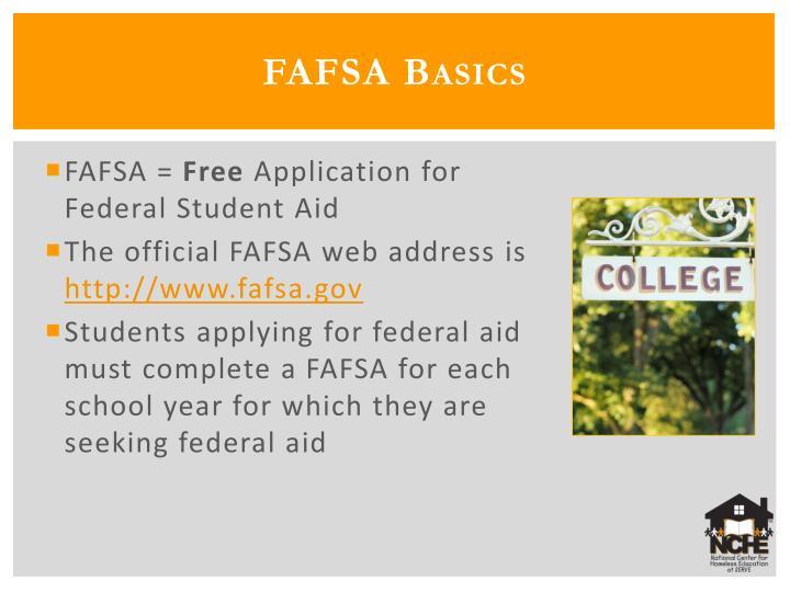 FAFSA Basics
