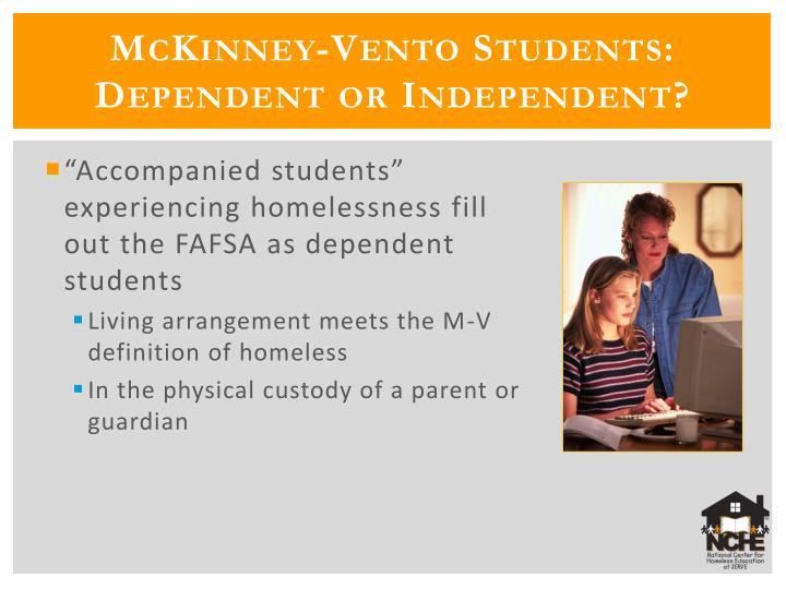 McKinney-Vento Students: