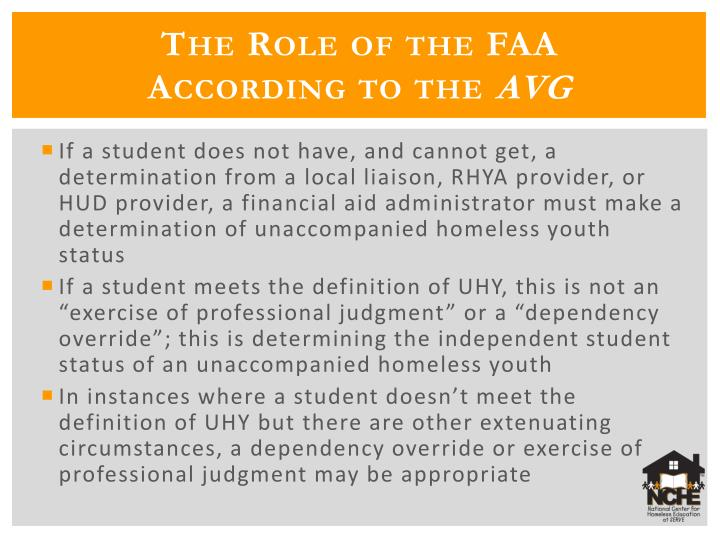 The Role of the FAA