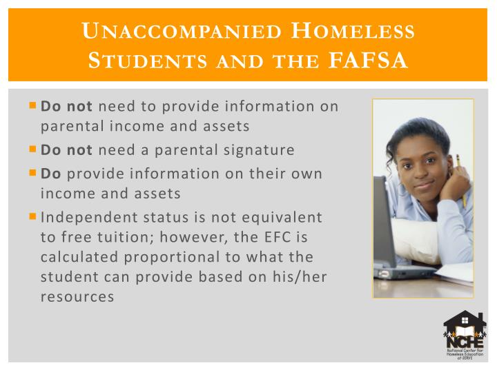 Unaccompanied Homeless Students and the FAFSA