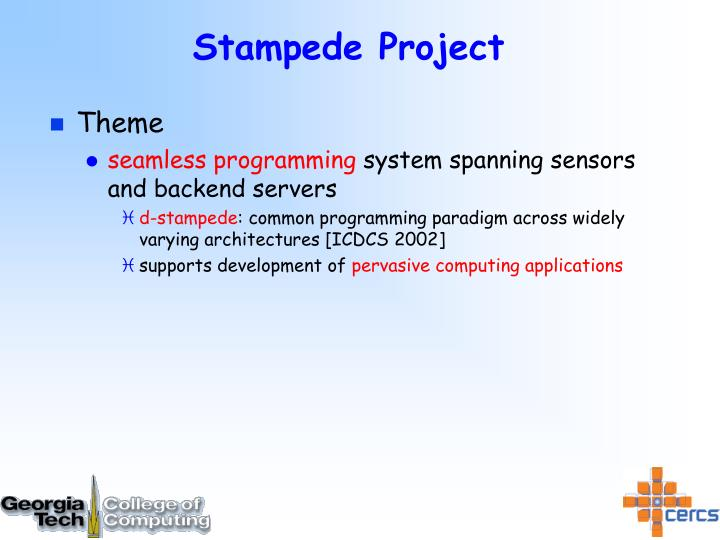 Stampede Project