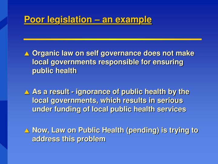 Poor legislation – an example