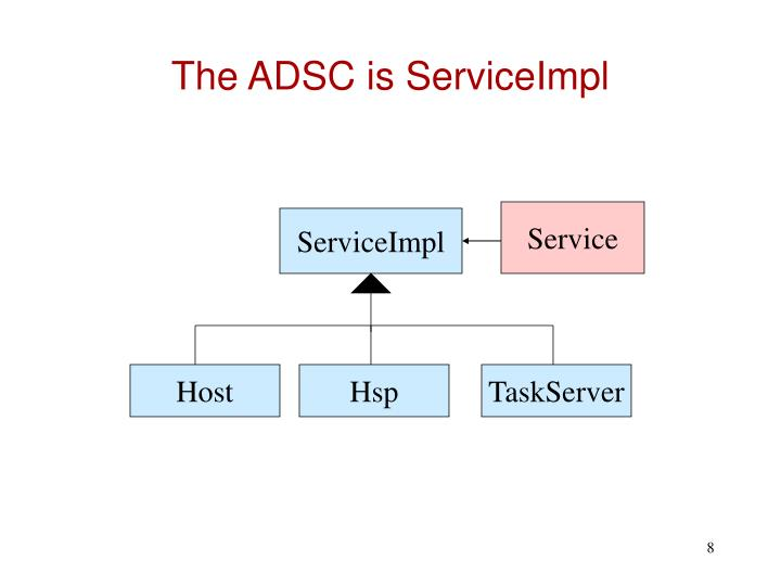 The ADSC is ServiceImpl
