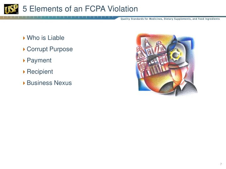 5 Elements of an FCPA Violation
