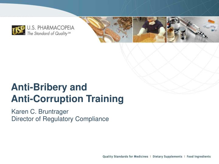 Anti bribery and anti corruption training