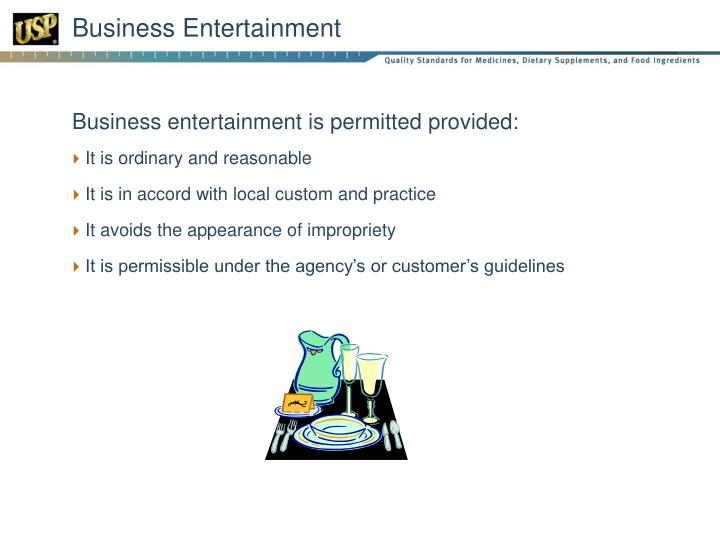 Business Entertainment