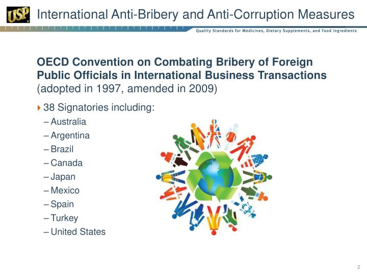 International anti bribery and anti corruption measures