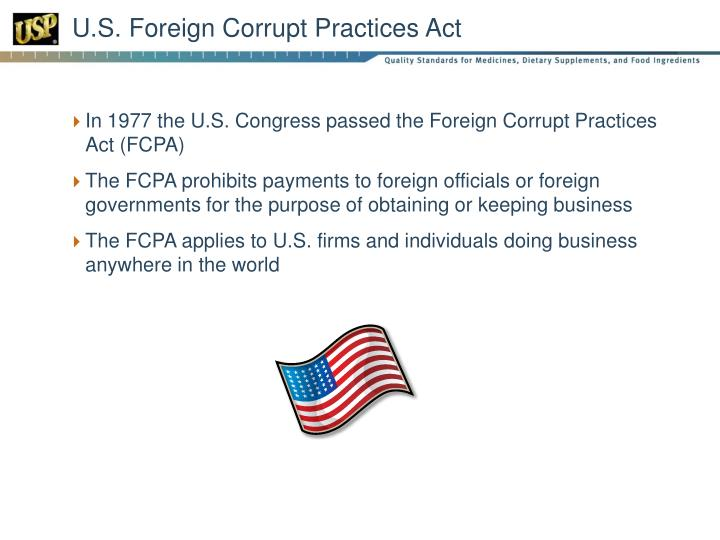 U.S. Foreign Corrupt Practices Act