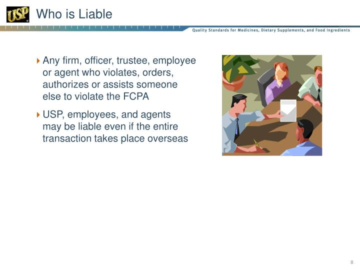 Who is Liable