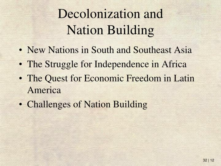 Decolonization and
