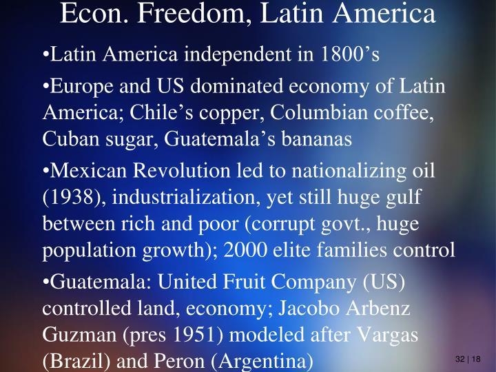 Econ. Freedom, Latin America