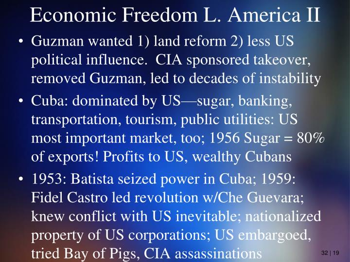 Economic Freedom L. America II