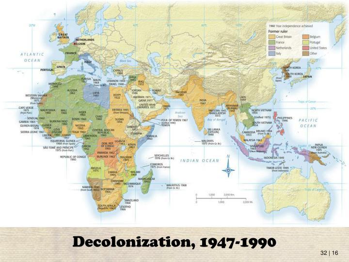 Decolonization, 1947-1990